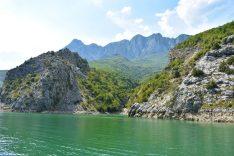 The Accursed Mountains around Lake Komani, Albania
