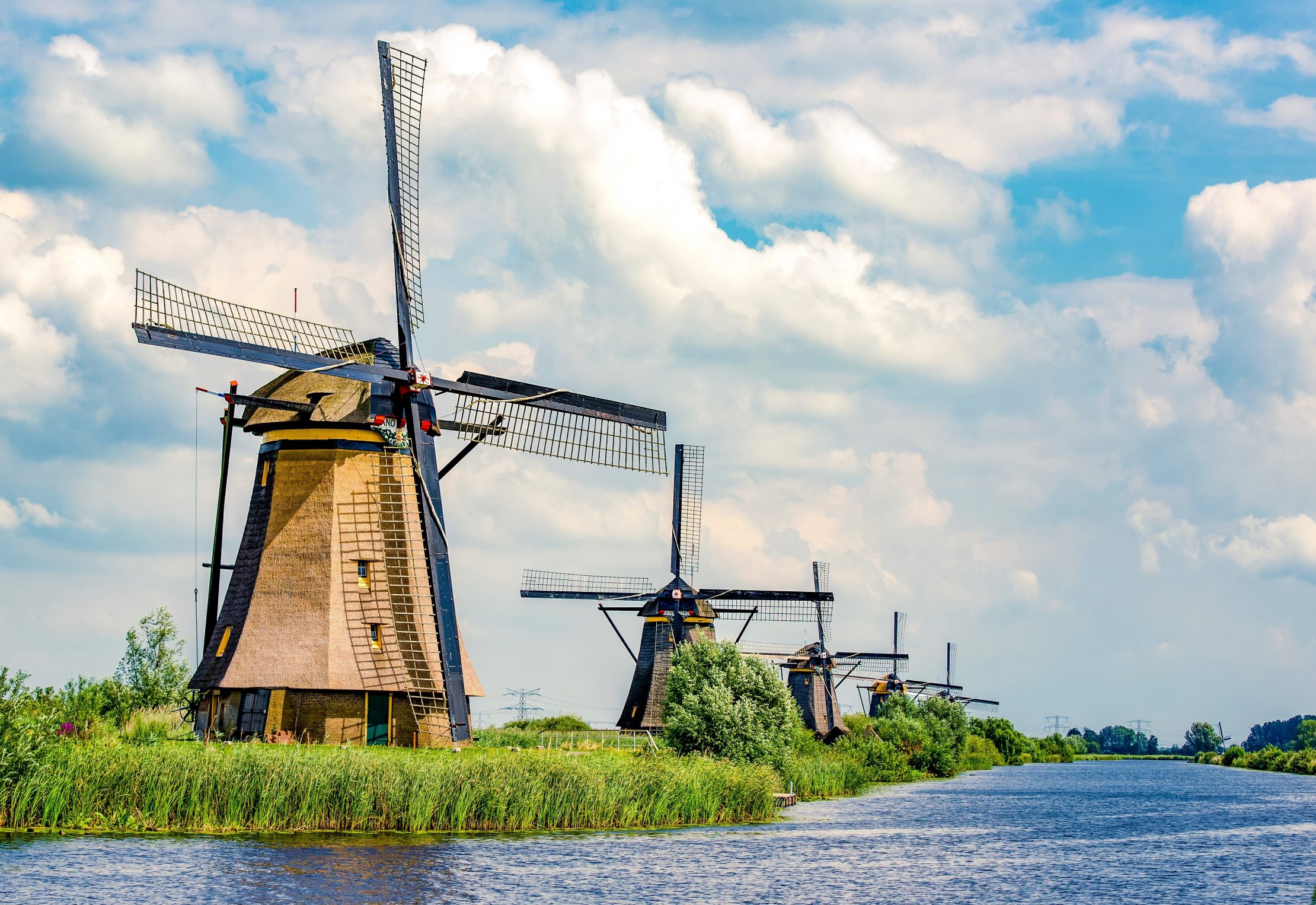 Windmils near Kinderdijk, Netherlands