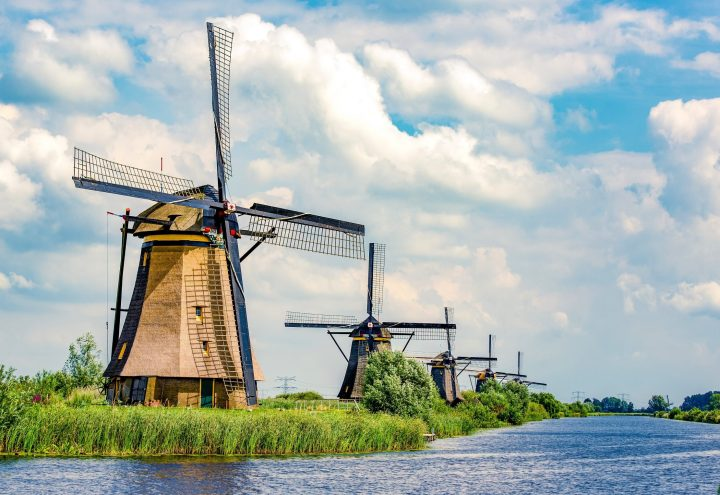 Windmils near Kinderdijk, Netherlands