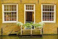 Vista del canal en Delft