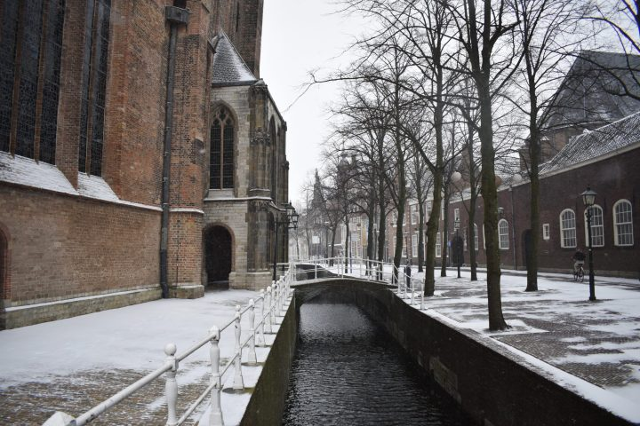 Delft Canals are starting to freeze