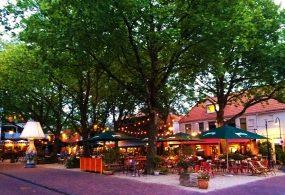 Doelenplein square in Delft