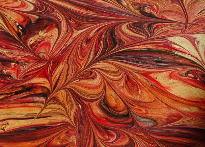 Marbled paper from Venice