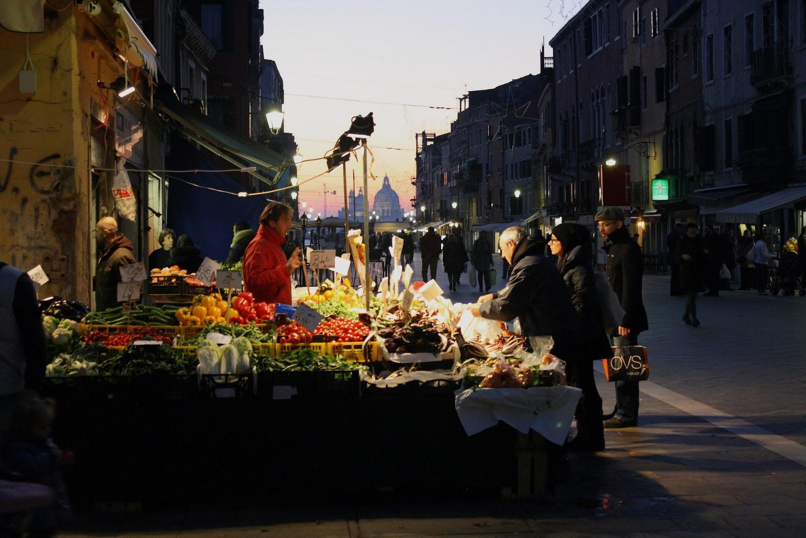 Market of Via Garibaldi in Venice