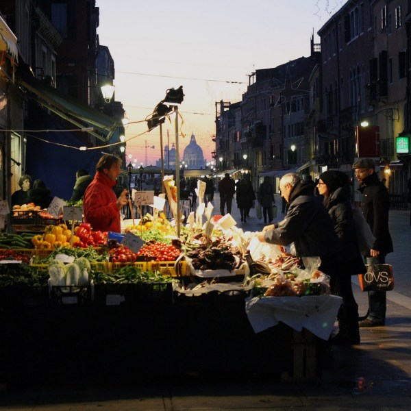 Market of Via Garibaldi in Venice