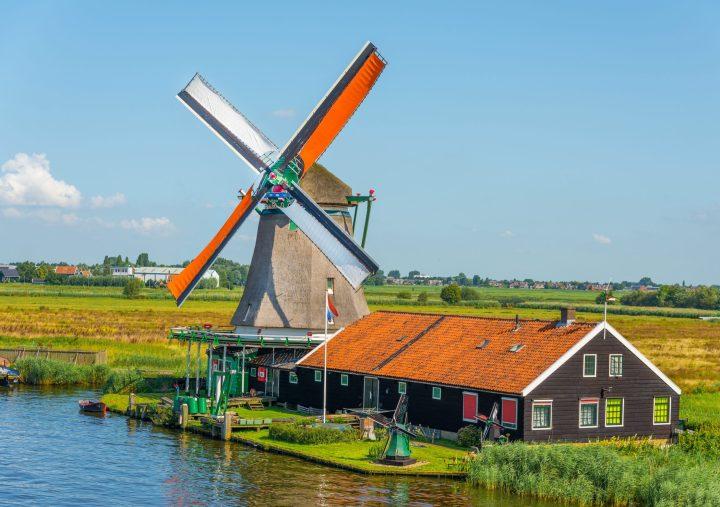 Windmill in Zaanse Schans The Netherlands