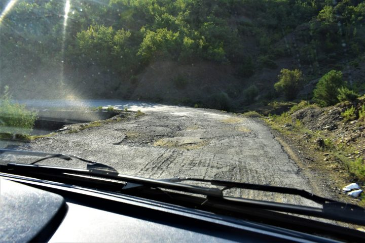 Albania by car - Road between Shkodër and Komani Lake is not for faint-hearted