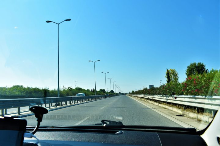 Is it safe to travel to Albania? Road between Tirana and Durrës, Albania