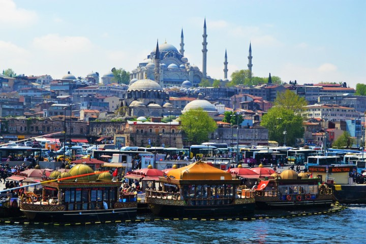 Dreamy cityscape of Istanbul
