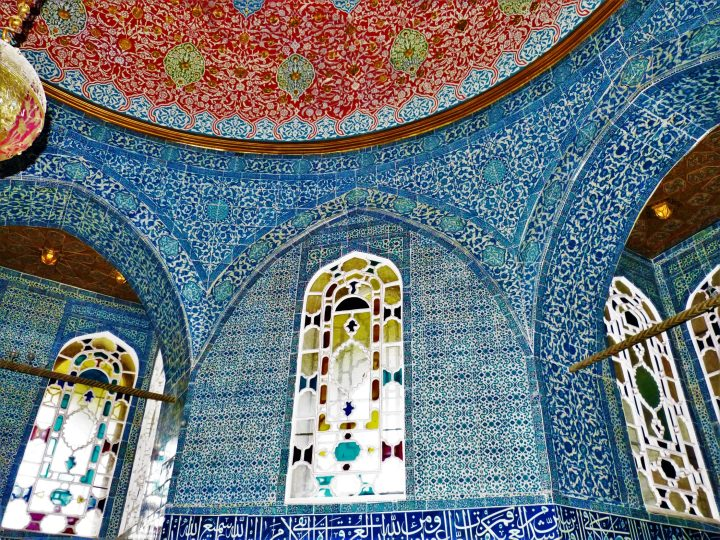 Fairytale interiors of the Topkapi Palace; Istanbul main attractions