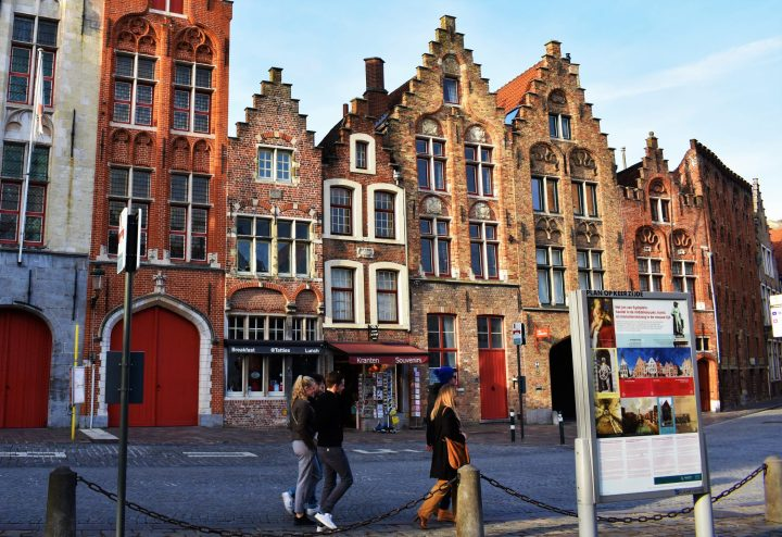 Former Hansa Quarter in Jan Van Eyckplein in Bruges