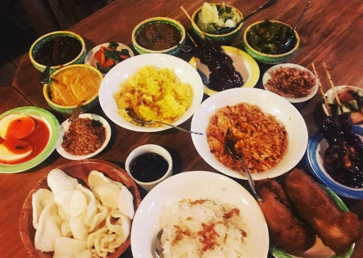 Indonesian Rijstaffel has its place in the gastronomy of the Netherlands