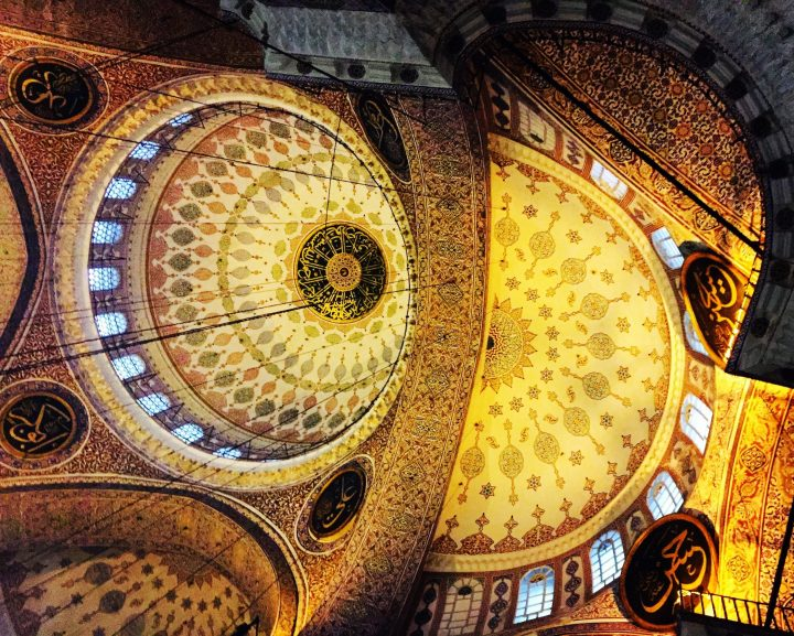 Interior of the Blue Mosque represent the splendour of the Islamic art