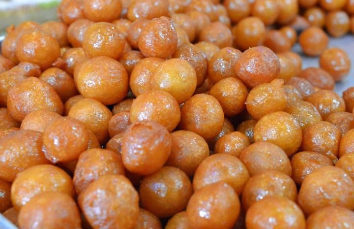 Loukoumades - sweet dough puffs