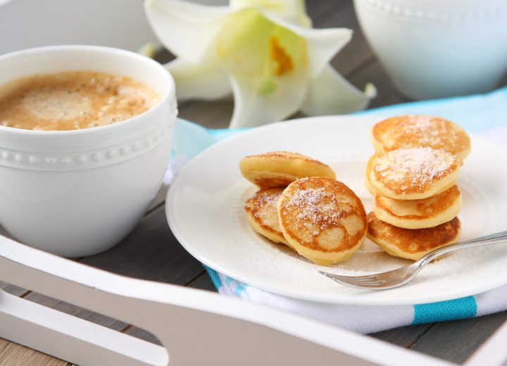 Poffertjes - super cute and delicious Dutch mini sweet pancakes