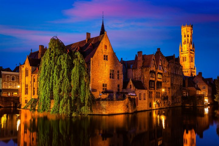Rozenhoedkaai in Bruges - the most famous spot of the city