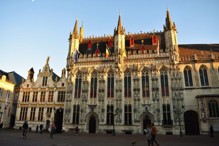 The Palace of the Liberty and City Hall of Bruges by the Burg square