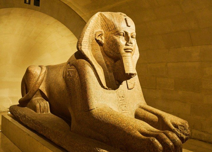 Extensive collection of Ancient Egyptian art treasures in The Louvre Museum in Paris, France