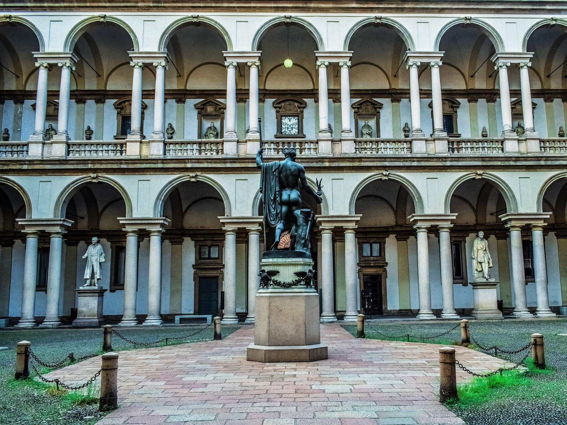Impressive Pinacoteca di Brera - The Brera Art Gallery in Milan, Italy