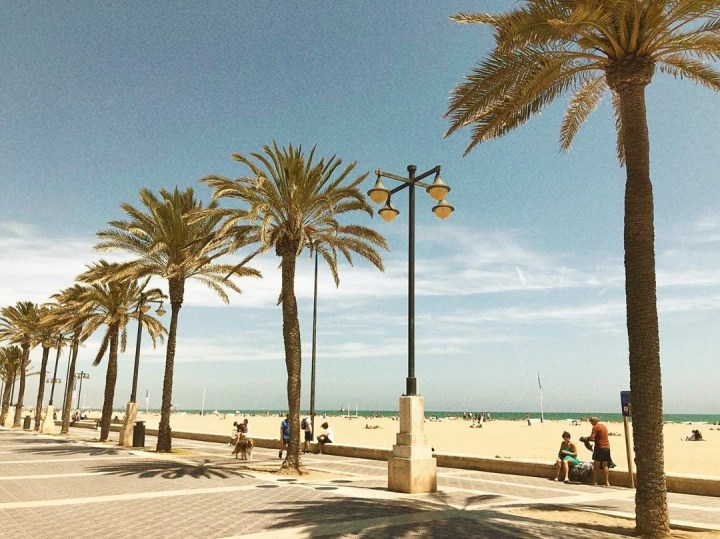 Malvarrosa - extremely wide and spacious main beach in Valencia, one of the best beaches in Spain