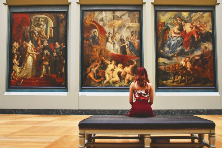 Painting collection in The Louvre in Paris