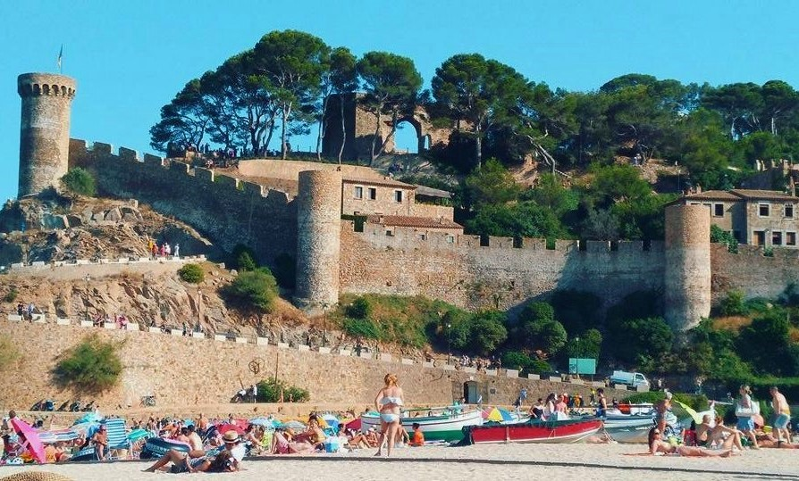Scenic castle in Tossa de Mar, Spain