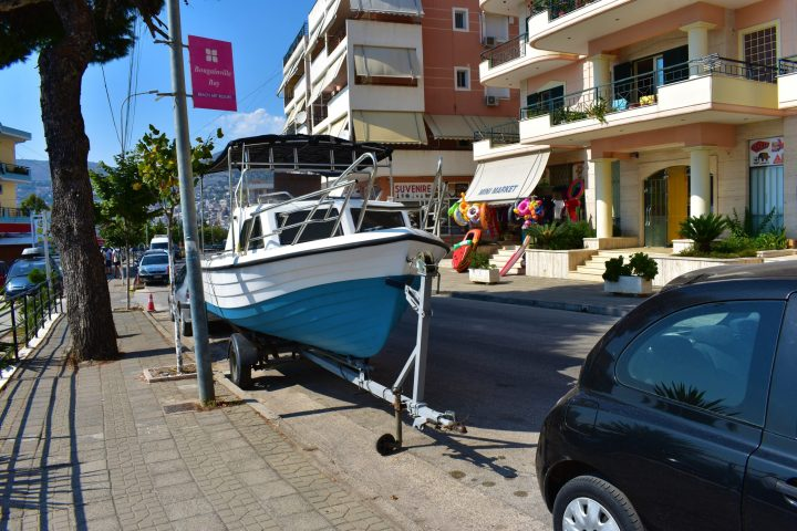 Sometimes it is difficult to find a parking spot :) Saranda, Albania