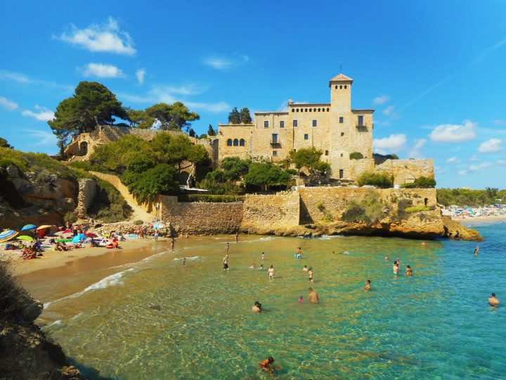 Tamarit Castle - Costa Dorada - Spain - one of the best beaches in Catalonia