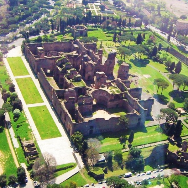 The Baths of Caracalla in Rome