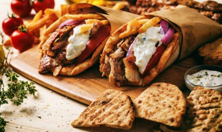 Gyros en pan pita