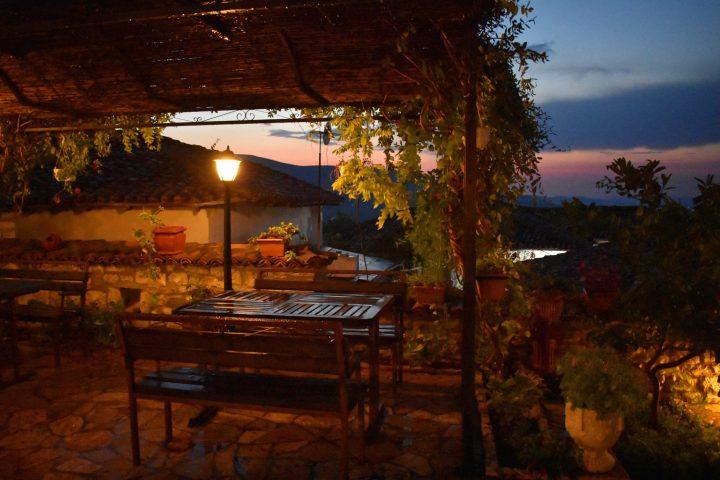 Romantic dinner in Klea restaurant in Berat, Albania