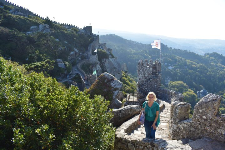 The views from the Moorish castle in Sintra are breathtaking