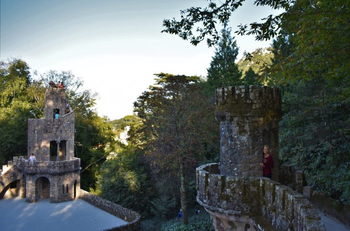 The towers make you feel like in the playground - Quinta da Regaleira, Sintra, Portugal