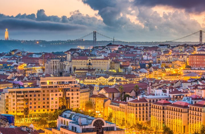 A fascinating view at Lisbon from above from one of its many miradouros - viewpoints