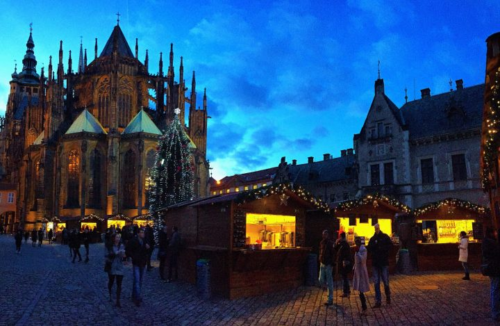 Small but lovely Christmas market in the Prague Castle