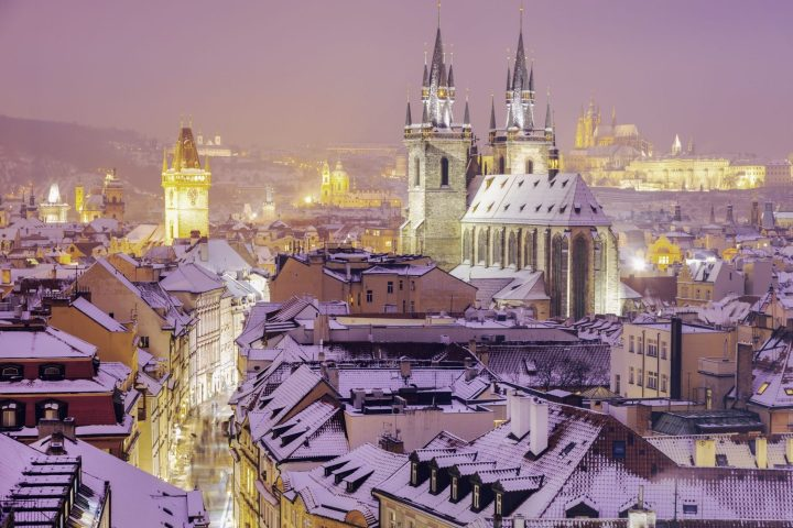 Snow makes Prague even more like a perfect fairytale