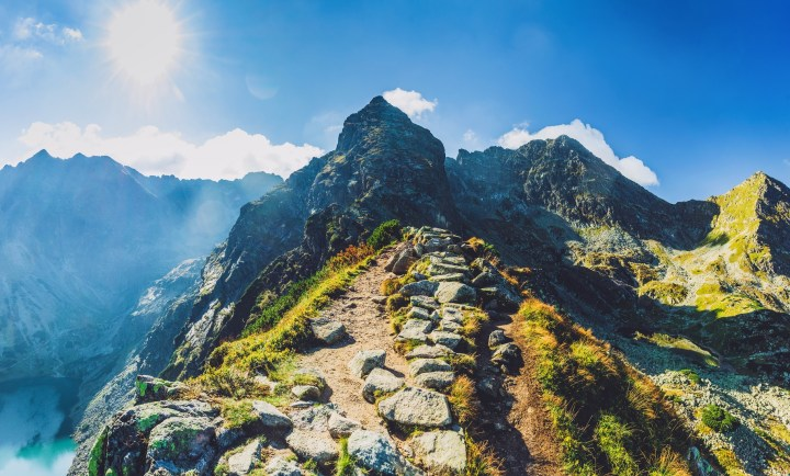 Hiking trail in spectacular Tatra Mountains towards Kościelec - southern Poland