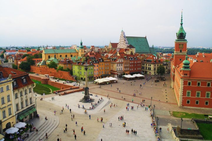 Colourful Old Town of Warsaw (UNESCO), central Poland