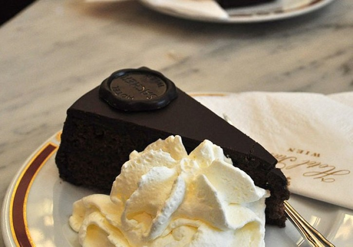 Famous Viennese Sachertorte - Typical Austrian Food