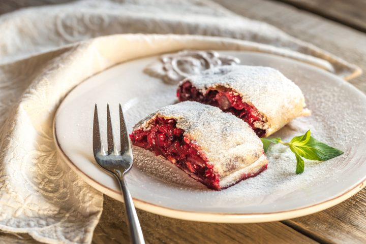 Weichselstrudel - Sour cherry strudel - Typical Austrian Food