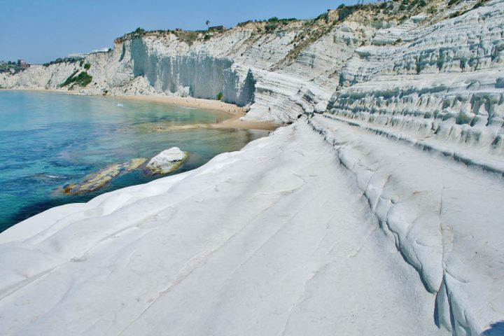 Mysterious rocks in Scala dei Turchi in Sicily, Italy