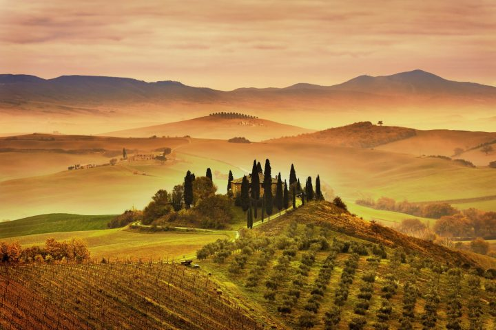 Typical Tuscan landscape - central Italy - Beautiful Photos of Italy