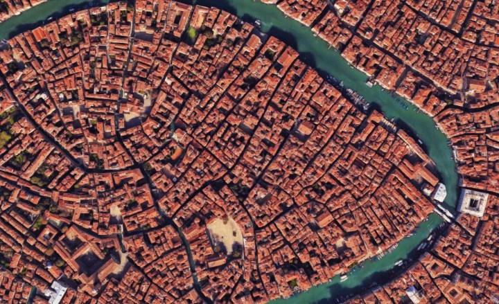 Venice lies on 117 small islets - many connected by bridges, other reachable only by boat - Google Maps