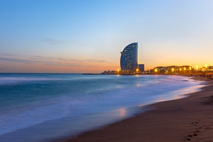 Barceloneta beach - one of the most vivid places in Barcelona - top 10 places to see in Barcelona, Spain