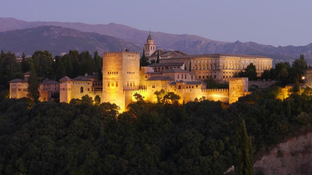 The Alhambra at dusk