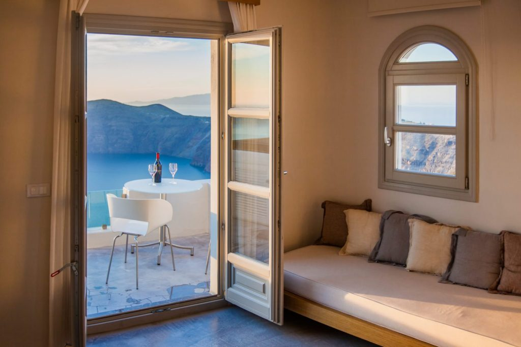 Room with a view - hotel in Santorini, Greece