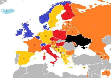 Les votes du public pour l'Ukraine