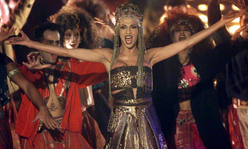 photo de Dana International pendant l'entracte de l'Eurovision 1999.