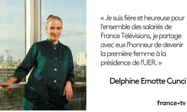 UER : élection de Delphine Ernotte Cunci à la présidence