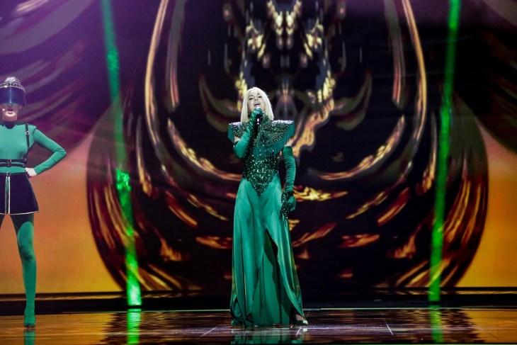 Samanta Tina, Latvia. Image source: EBU/THOMAS HANSES